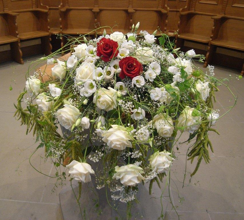 Blumenschmuck hochzeit 2012 alte kirche lyss gestaltung und
